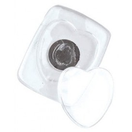 magnet coeur transparent 4,5x5,7cm