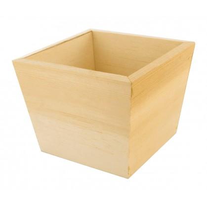 cache pot 11x11x9 cm en bois brut d corer. Black Bedroom Furniture Sets. Home Design Ideas