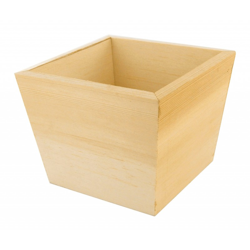 cache pot 11x11x9 cm en bois brut d corer. Black Bedroom Furniture Sets. Home Design Ideas