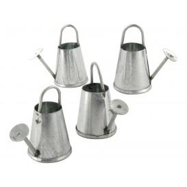 4 mini arrosoirs zinc 3cm