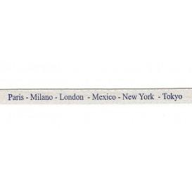 "ruban satin ""paris-milano-london-mexico-new york-tokyo"""