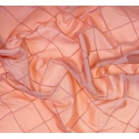 tissu taffeta rose à carreaux largeur 138cm au mètre