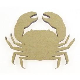 sujet en bois crabe