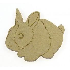sujet en bois lapin n°2