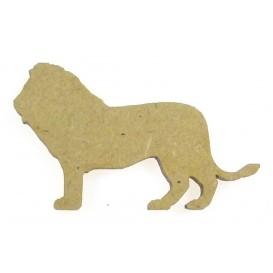 sujet en bois lion