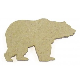 sujet en bois ours