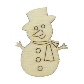 sujet en bois bonhomme de neige