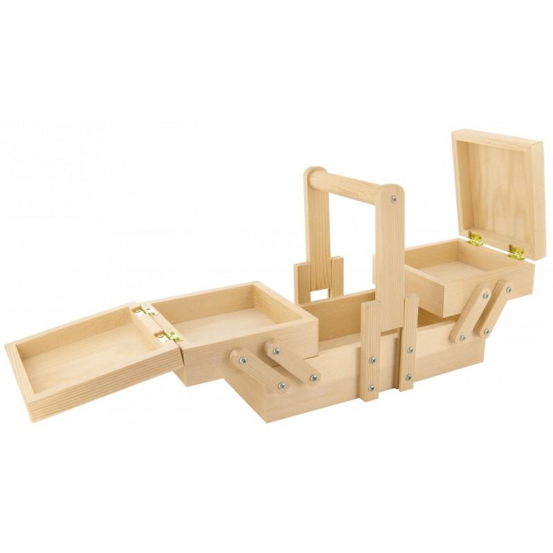 petite boite ouvrage 20x10x8 5cm en bois brut d corer