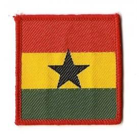 écusson drapeau du ghana à coudre