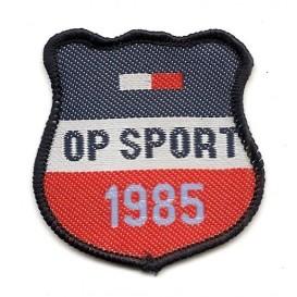 écusson blason op sport 1985 à coudre
