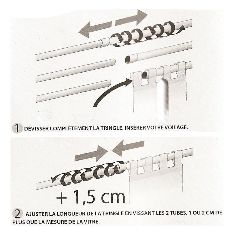 tringle fix 39 vit autobloquante 9mm extensible 30 50cm. Black Bedroom Furniture Sets. Home Design Ideas