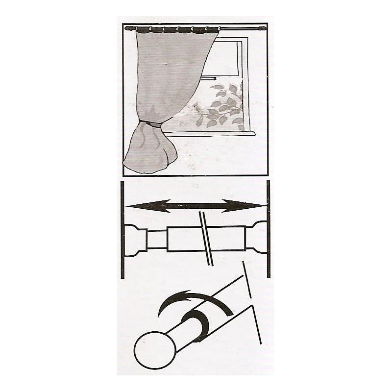 tringle autobloquante ronde 10mm extensible 40 60cm. Black Bedroom Furniture Sets. Home Design Ideas