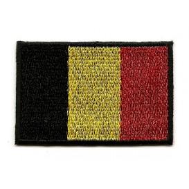 écusson drapeau belge thermocollant