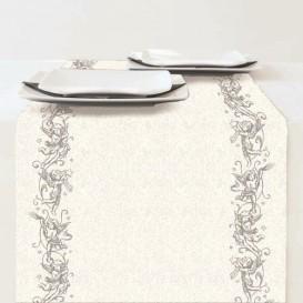 chemin de table en papier noël ange argent 33x600cm