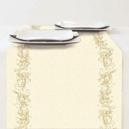 chemin de table en papier no l ange or 33x600cm. Black Bedroom Furniture Sets. Home Design Ideas