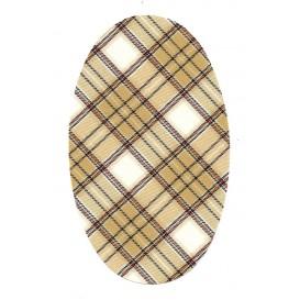 coudes fantaisie écossais beige à thermocoller