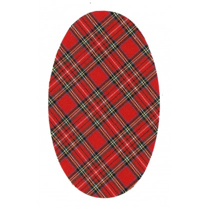 coudes fantaisie écossais rouge à thermocoller
