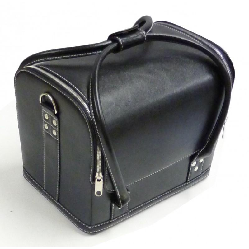 Bo te couture sac de rangement aspect cuir noir for Boite a couture a decorer
