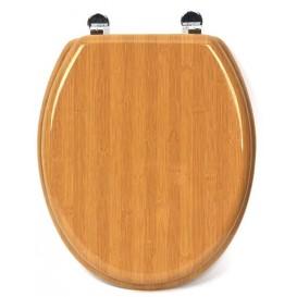 abattant de WC en bois façon bambou