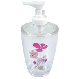 distributeur de savon en PVC fleurs rose