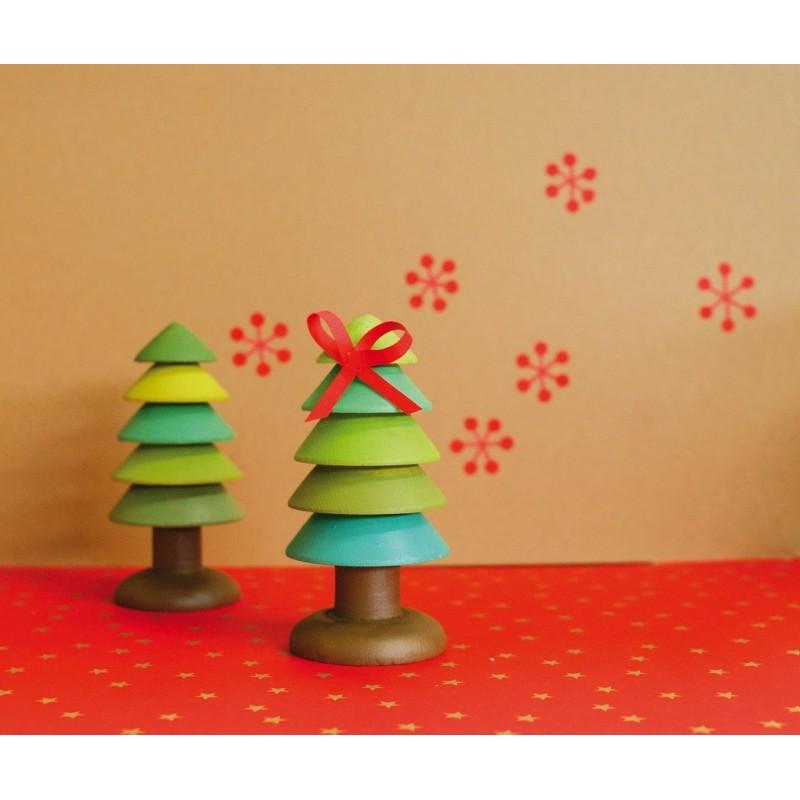 Sapin en bois design 4 5x10 5cm - Sapin en bois a decorer ...