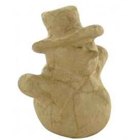 bonhomme de neige en papier mâché